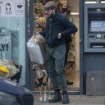 Kit Harington in a Tan Cap Walks His Dog in London 01/10/2021
