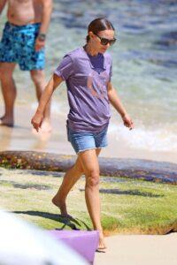 Natalie Portman in a Purple Tee