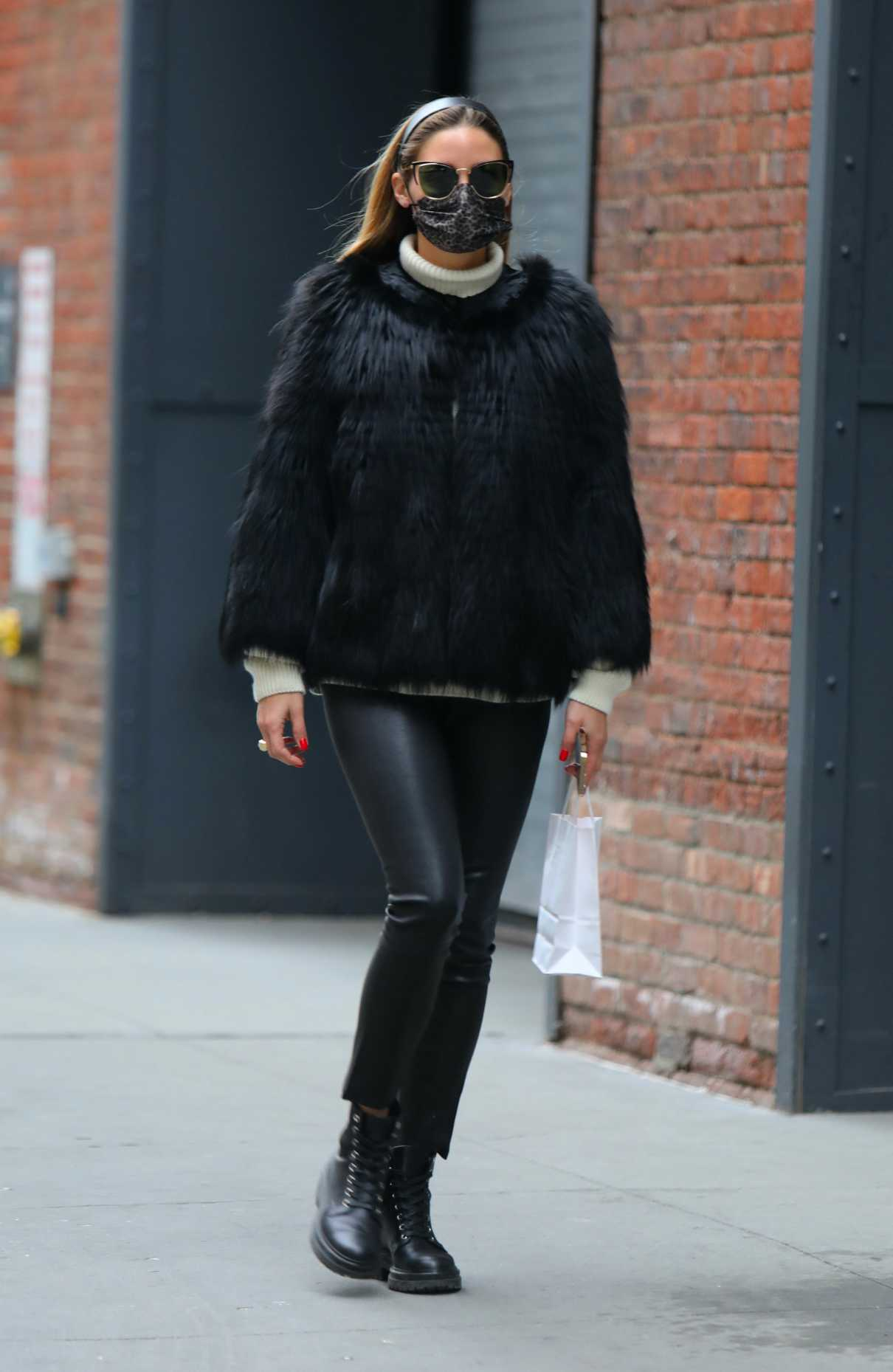 Olivia Palermo in a Black Outfit