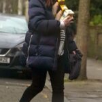 Rose Leslie in a Green Knit Hat Was Seen Out in London 01/04/2021