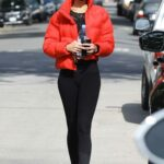 Sara Sampaio in a Red Jacket Leaves a Workout Session in West Hollywood 01/28/2021
