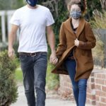 Sarah Hyland in a Tan Coat Was Seen Out with Wells Adams in Hollywood 01/19/2021