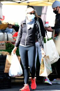 Sarah Michelle Gellar in a Black Adidas Track Jacket
