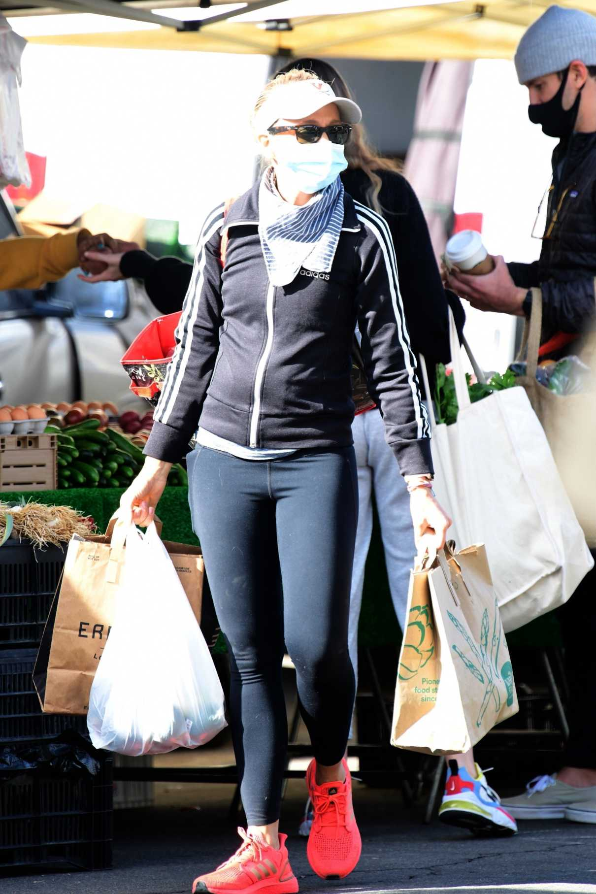 Sarah Michelle Gellar in a Black Adidas Track Jacket