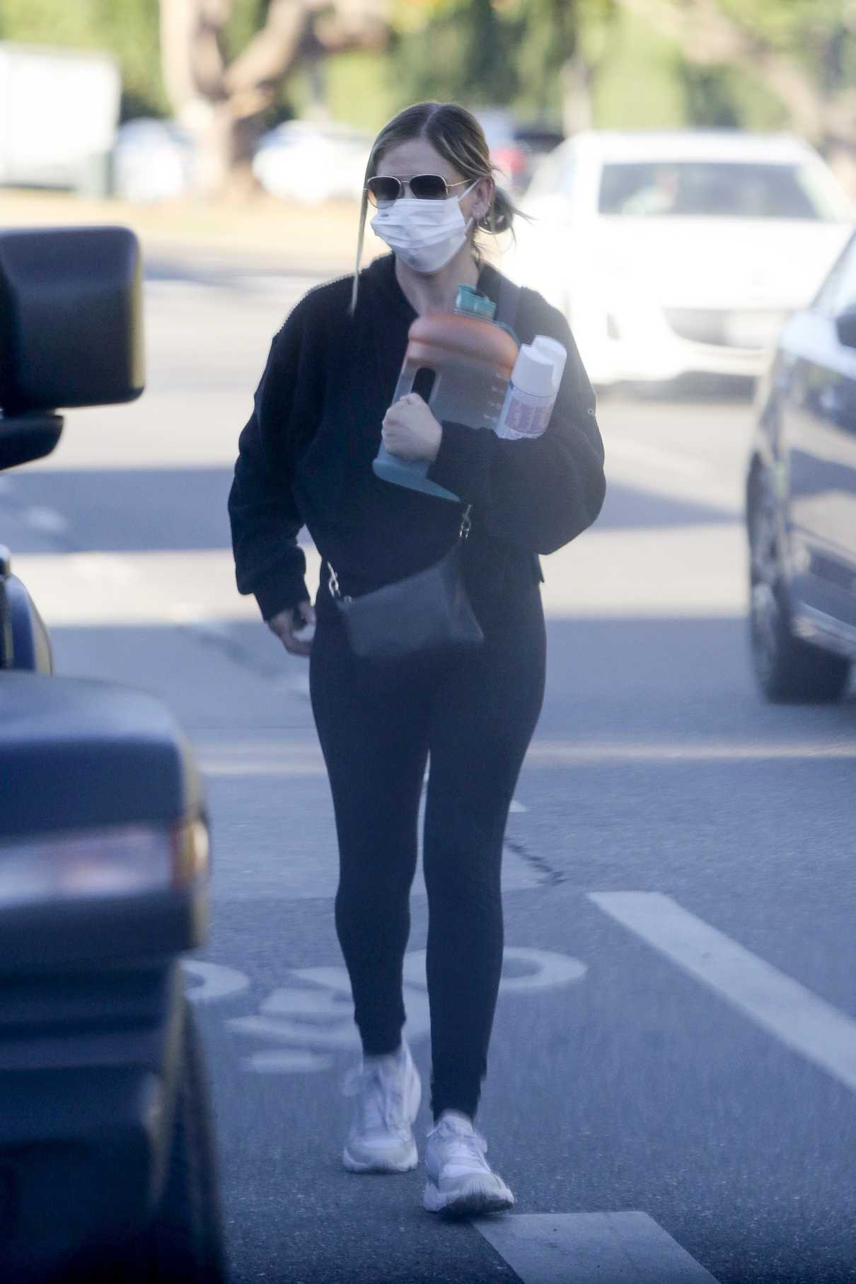 Sarah Michelle Gellar in a Protective Mask