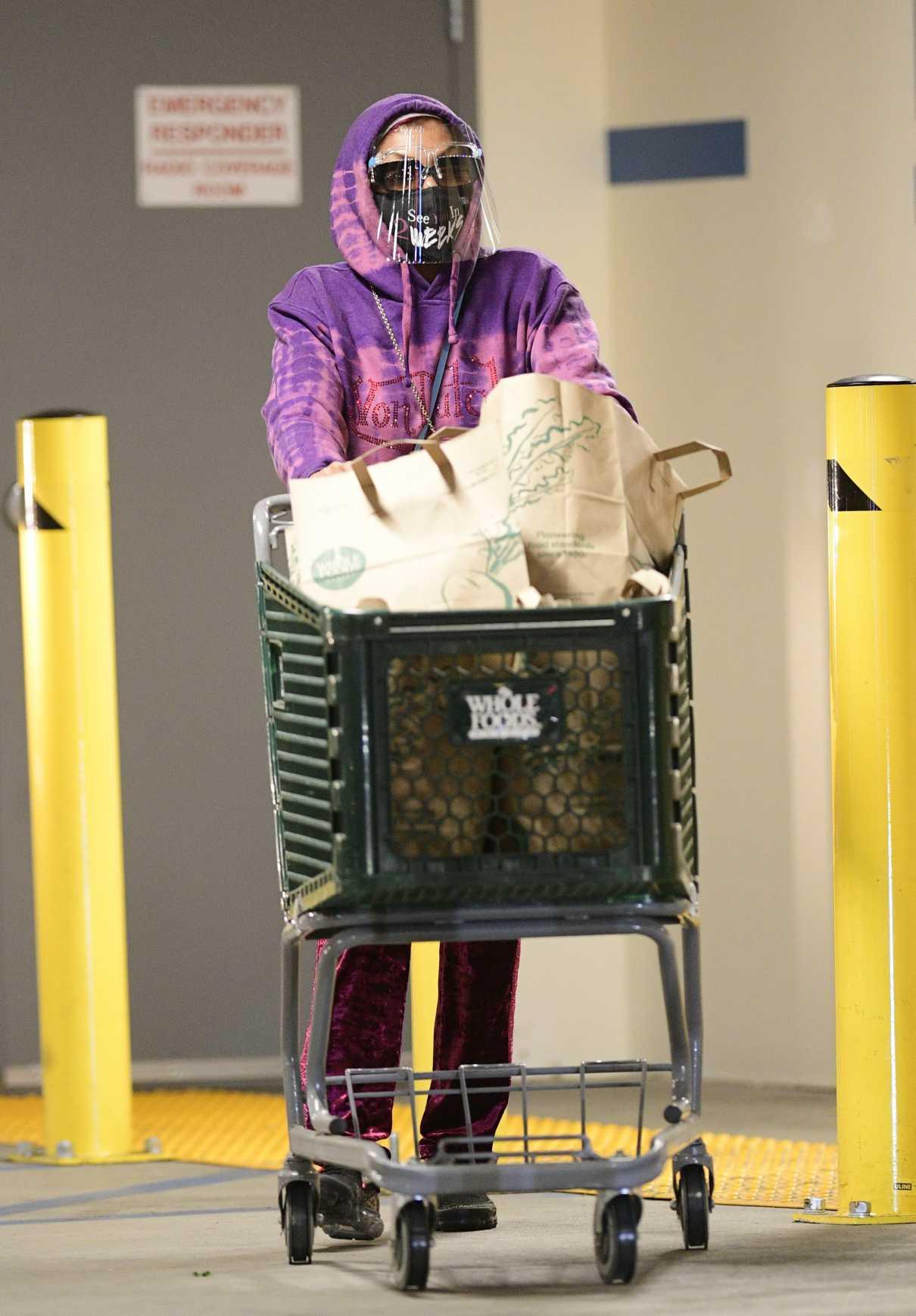 Taraji P. Henson in a Purple Hoodie