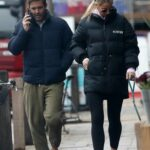 Vogue Williams in a Black Puffer Jacket Was Seen Out with Spencer Matthews in Chelsea, London 01/28/2021