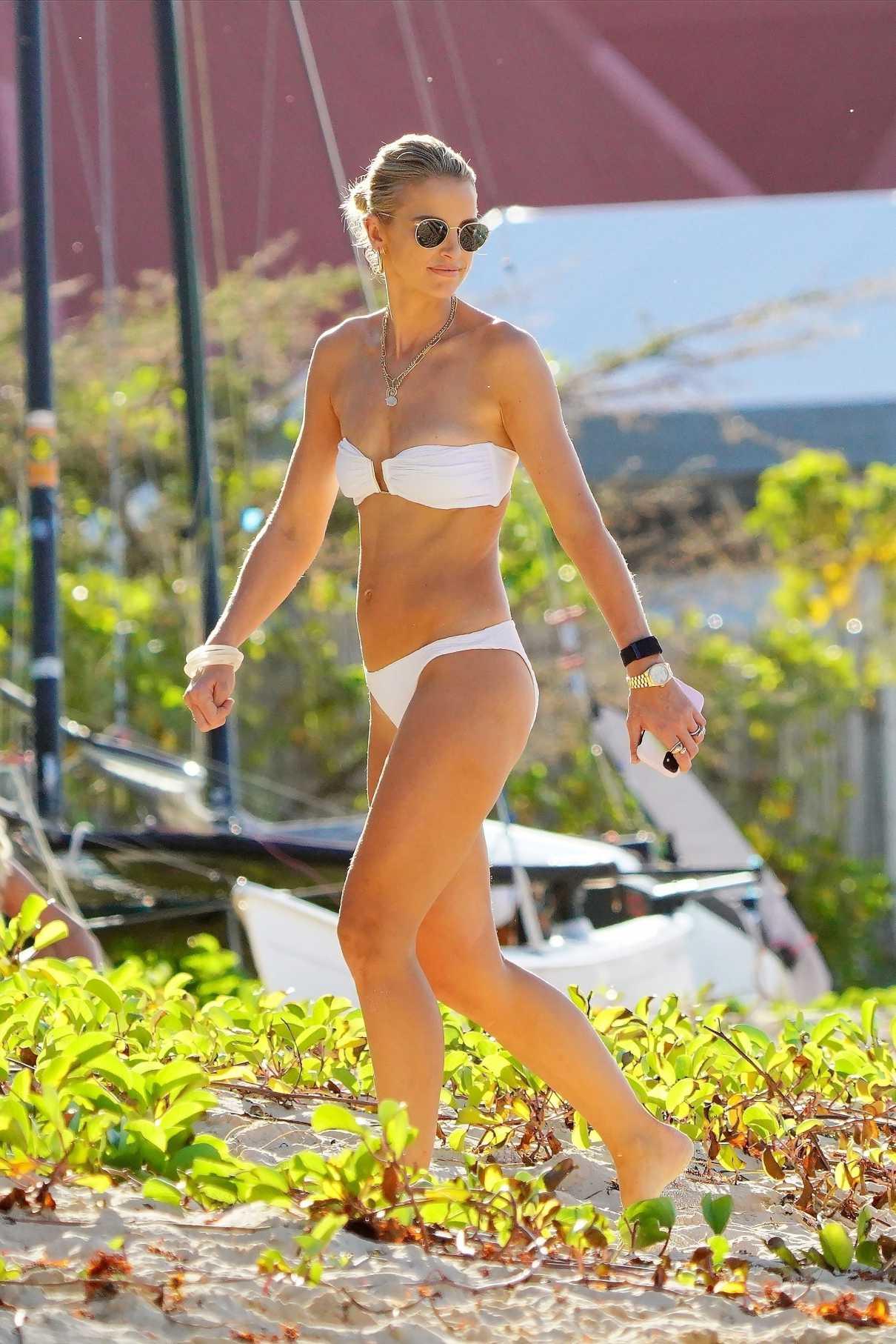 Vogue Williams in a White Bikini