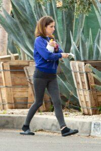 Anna Kendrick in a Blue Sweatshirt