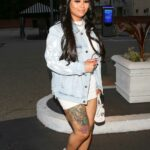 Blac Chyna in a White Mini Dress Heads Out for a Shopping Trip at Saks Fifth Avenue in Beverly Hills 02/20/2021
