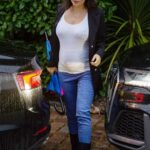 Casey Batchelor in a Black Blazer Was Seen Out in Hertfordshire 02/22/2021