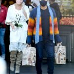 Chrissy Teigen in a White Dress Stops by Bristol Farms Out with John Legend in Beverly Hills 02/12/2021