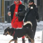 Emily Ratajkowski in a Black Beanie Hat Was Spotted Out for a Walk with Her Husband and Dog in New York 02/20/2021