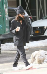 Emily Ratajkowski in a Black Beanie Hat