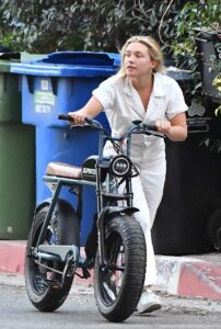Florence Pugh in a White Sneakers