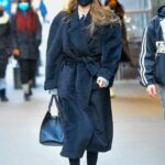 Gigi Hadid in a Blue Cap Was Seen Out in New York 02/02/2021