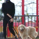 Jennifer Garner in a Black Turtleneck Walks Her Dog at the Dog Park in Pacific Palisades 01/31/2021
