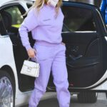 Jennifer Lopez in a Lilac Sweatsuit Was Seen Out in Miami 02/01/2021
