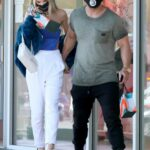 Joy Corrigan in a White Pants Was Seen Out with Her Boyfriend in West Hollywood 02/14/2021