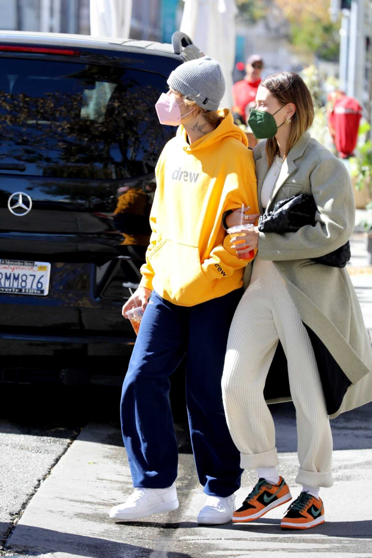 Justin Bieber in a Yellow Hoodie