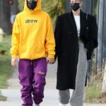 Justin Bieber in a Yellow Hoodie Was Seen Out with Hailey Bieber in Los Angeles 02/13/2021