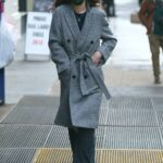 Katie Holmes in a Grey Coat Was Seen Out in New York 02/14/2021