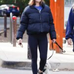 Lucy Hale in a Black Beanie Hat Walks Her Dog in Studio City 02/15/2021