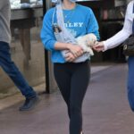 Lucy Hale in a Black Leggings Was Seen Out with a Friend in Los Angeles 02/16/2021