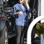 Lucy Hale in a Grey Leggings Was Seen at the Gas Station in Studio City 02/10/2021