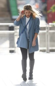 Mollie King in a Blue Blazer