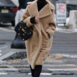 Nicky Hilton in a Beige Faux Fur Coat Was Seen Out in Manhattan, New York City 02/09/2021