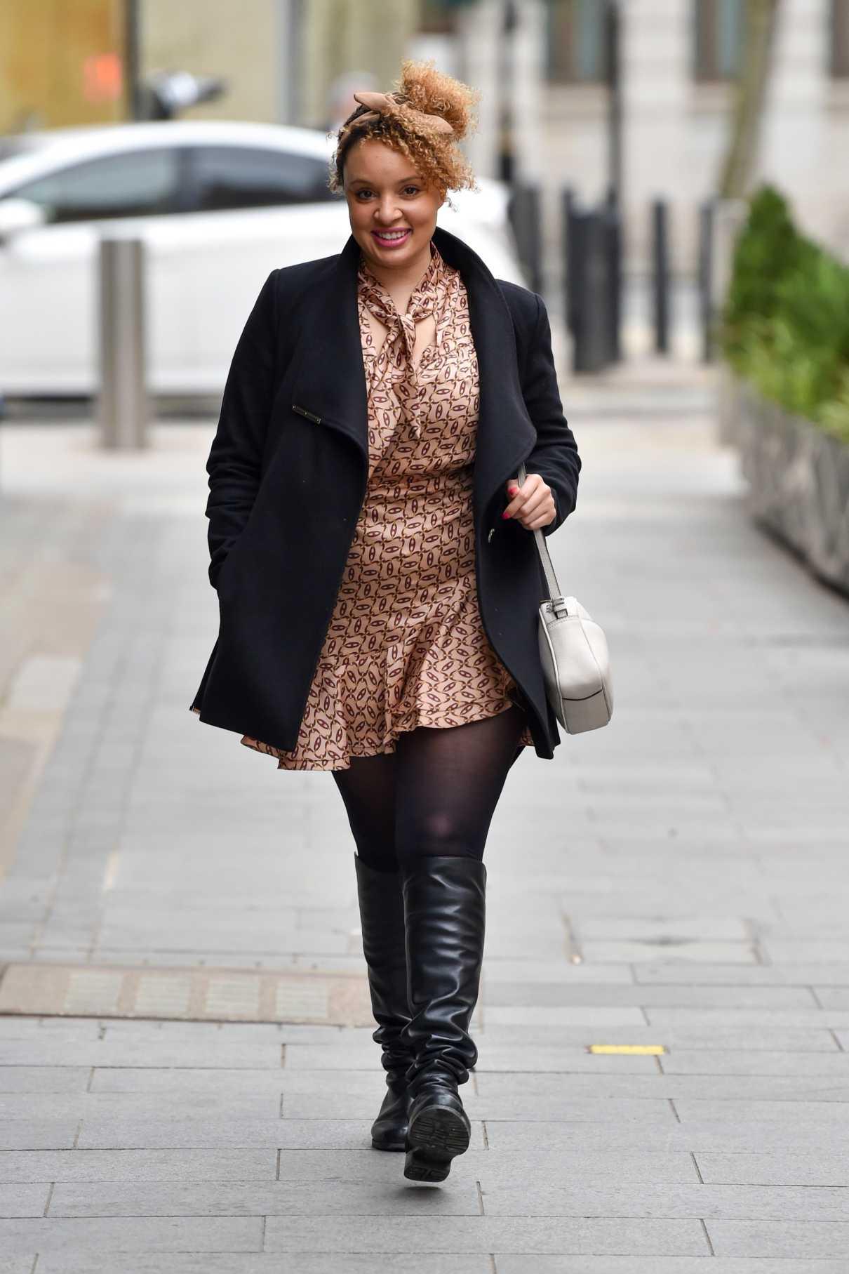 Pandora Christie in a Black Coat