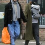 Rose Leslie in an Olive Coat Was Seen Out with Kit Harington and Their Newborn Baby in London 02/16/2021
