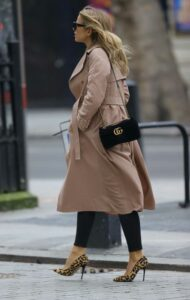 Vogue Williams in a Beige Trench Coat