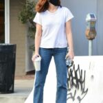 Zoey Deutch in a White Tee Was Seen Out in Los Angeles 02/11/2021