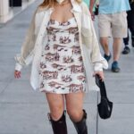 Addison Rae in a Beige Shirt Was Seen Out in Beverly Hills 03/29/2021