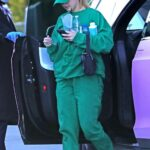 Addison Rae in a Green Outfit Arrives at the Dogpound Gym in Los Angeles 03/24/2021