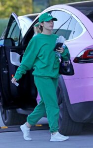 Addison Rae in a Green Outfit