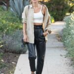 Alessandra Ambrosio in a White Top Was Seen Out in Los Angeles 03/18/2021
