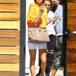 Alessandra Ambrosio in a Yellow Hoodie Was Spotted Out in Los Angeles 03/17/2021