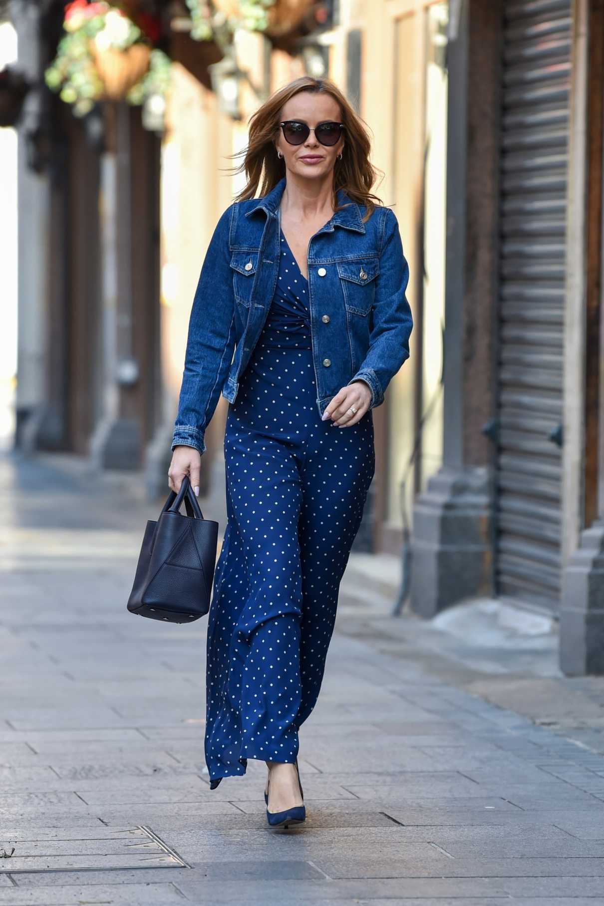 Amanda Holden in a Blue Outfit