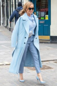 Amanda Holden in a Light Blue Outfit