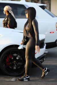 Blac Chyna in a Black Leggings