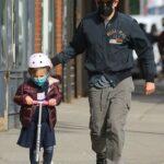 Bradley Cooper in a Black Cap Walks with His Daughter in New York 03/12/2021