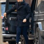 Bradley Cooper in a Black Coat Was Seen Out with His Daughter in New York 03/19/2021