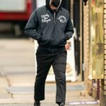 Bradley Cooper in a Black Outfit Walks with His Daughter in the West Village in New York City 03/01/2021