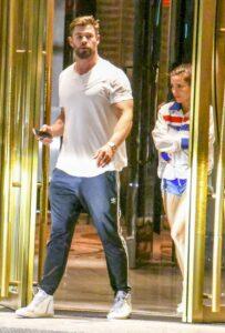 Chris Hemsworth in a White Tee