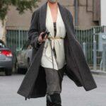 Chrissy Teigen in a Grey Coat Was Seen Out in Beverly Hills 03/15/2021