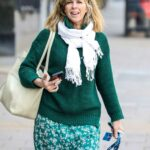 Kate Garraway in a Green Outfit Leaves the Global Radio Studios in London 03/22/2021