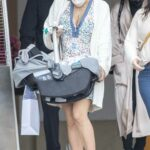 Katharine McPhee in a White Cardigan Was Spotted Out with Her Baby in Beverly Hills 03/25/2021